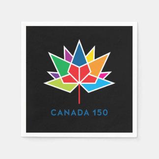 Offizielles Logo Kanadas 150 - Mehrfarben- und Papierserviette