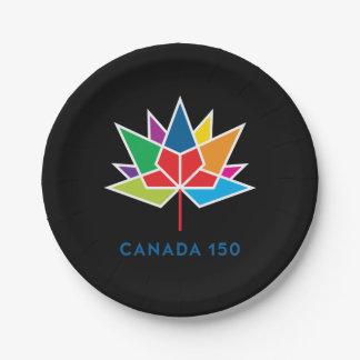 Offizielles Logo Kanadas 150 - Mehrfarben- und Pappteller