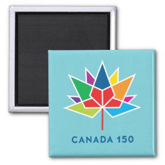 Offizielles Logo Kanadas 150 - Mehrfarben- und Quadratischer Magnet