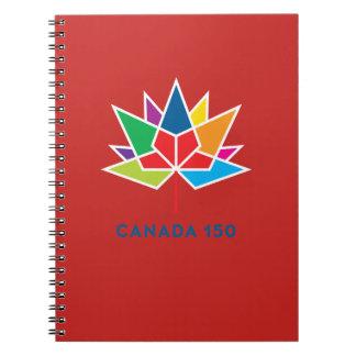 Offizielles Logo Kanadas 150 - Mehrfarben- und rot Notizblock