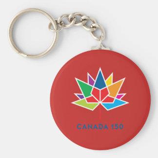 Offizielles Logo Kanadas 150 - Mehrfarben- und rot Schlüsselanhänger
