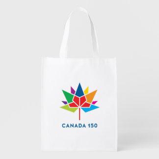Offizielles Logo Kanadas 150 - Mehrfarben Wiederverwendbare Einkaufstasche