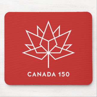 Offizielles Logo Kanadas 150 - Rot und Weiß Mauspads