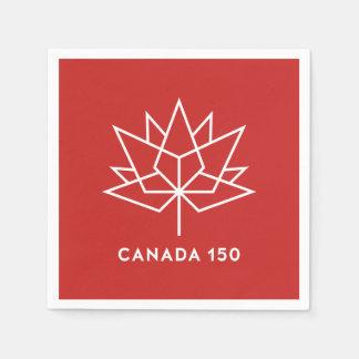 Offizielles Logo Kanadas 150 - Rot und Weiß Papierservietten