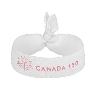 Offizielles Logo Kanadas 150 - rote Kontur Haarschleife