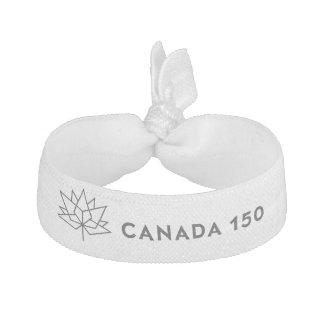 Offizielles Logo Kanadas 150 - schwarze Kontur Haargummis