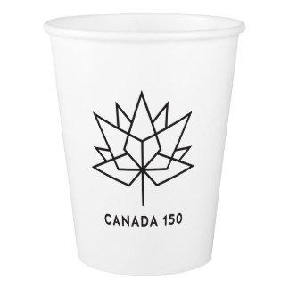 Offizielles Logo Kanadas 150 - schwarze Kontur Pappbecher