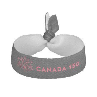 Offizielles Logo Kanadas 150 - Schwarzes und Rot Haarschleife