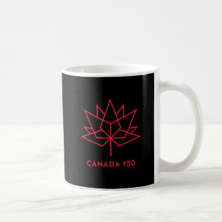 Offizielles Logo Kanadas 150 - Schwarzes und Rot Kaffeetasse