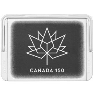 Offizielles Logo Kanadas 150 - Schwarzweiss Igloo Kühlbox