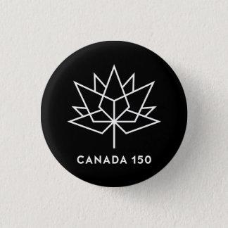Offizielles Logo Kanadas 150 - Schwarzweiss Runder Button 3,2 Cm