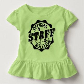 Offizielles Personal einer Bulldogge Kleinkind T-shirt