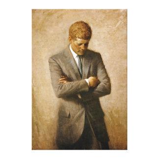 Offizielles Porträt John F. Kennedy durch Aaron Leinwand Druck