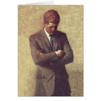 Offizielles Porträt Präsidenten-John F. Kennedy Karten