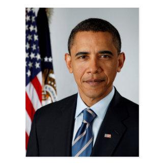 Offizielles Porträt von Präsidenten Barack Obama Postkarte