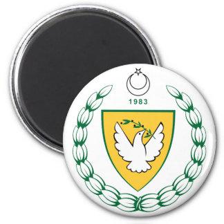 Offizielles Wappen der Türkei Zypern Wappenkunde Runder Magnet 5,1 Cm