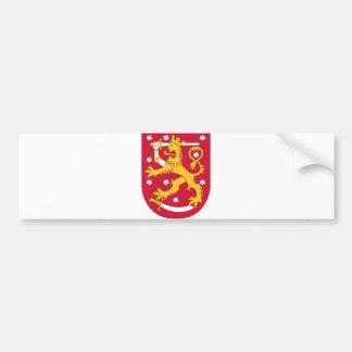 Offizielles Wappen Finnlands Wappenkunde-Symbol Autoaufkleber
