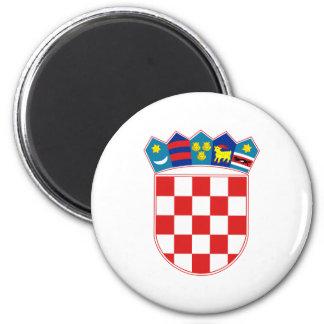 Offizielles Wappen Kroatiens Wappenkunde-Symbol Runder Magnet 5,7 Cm