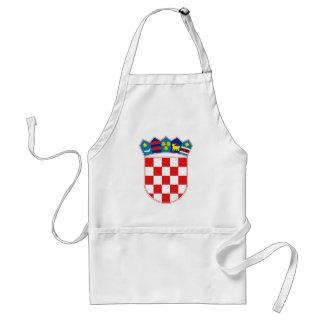Offizielles Wappen Kroatiens Wappenkunde-Symbol Schürze