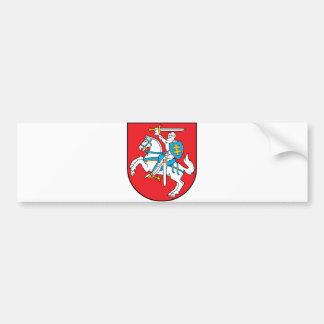 Offizielles Wappen Litauens Wappenkunde-Symbol Autoaufkleber