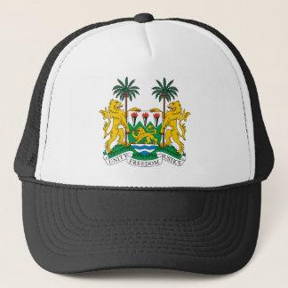 Offizielles Wappen Sierra Leone Wappenkunde-Symbol Truckerkappe