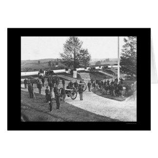 Offiziere und Männer im Fort Stevens, DC 1865 Karte