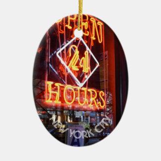 Öffnen Sie 24 Stunden Neondes Keramik Ornament