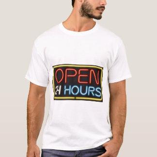 Öffnen Sie 24 Stunden T-Shirt