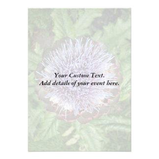 Öffnen Sie Artischocken-Blume Purpurrot