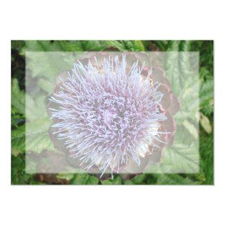 Öffnen Sie Artischocken-Blume. Purpurrot 12,7 X 17,8 Cm Einladungskarte