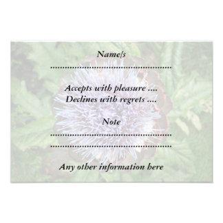 Öffnen Sie Artischocken-Blume Purpurrot Individuelle Einladung