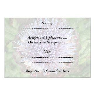 Öffnen Sie Artischocken-Blume Purpurrot Individuelle Ankündigungskarte