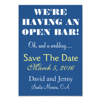 Öffnen Sie Bar Save the Date 8,9 X 12,7 Cm Einladungskarte