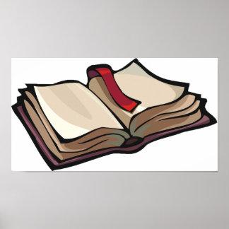 Öffnen Sie Buch-Plakat Poster