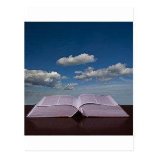 öffnen Sie Buch Postkarte