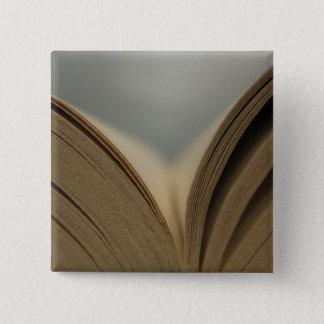 Öffnen Sie Buch-Seiten-Knopf Quadratischer Button 5,1 Cm