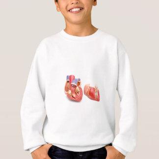 Öffnen Sie das Modell des menschlichen Herzens Sweatshirt