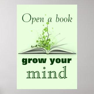 Öffnen Sie ein Buch-Plakat Poster