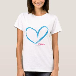Öffnen Sie Herz-Aqua T-Shirt