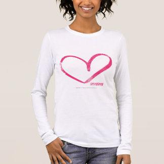 Öffnen Sie Herz-Magenta Langarm T-Shirt