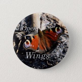 Öffnen Sie Ihren Flügelknopf Runder Button 5,1 Cm
