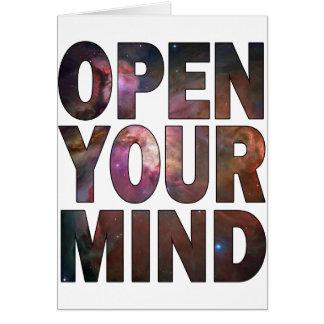 Öffnen Sie Ihren Verstand Grußkarte