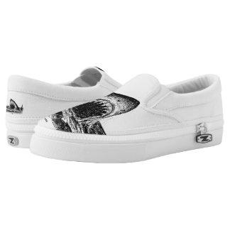ÖFFNEN Sie KIEFER großen Slipper Kreuzschraffieren Slip-On Sneaker