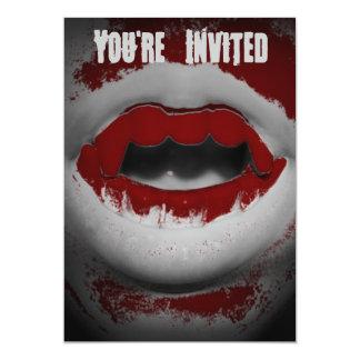 Öffnen Sie Mund-blutige Vampirs-Reißzähne Karte