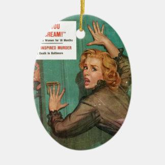 Öffnen Sie nicht diese Tür! Keramik Ornament