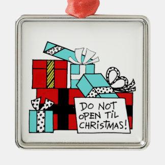 Öffnen Sie nicht sich bis Silbernes Ornament