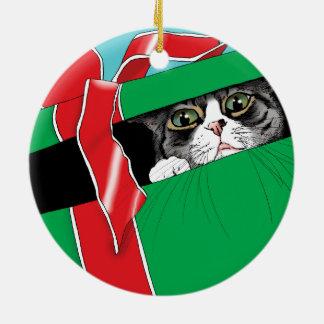 Öffnen Sie nicht sich bis Weihnachten Keramik Ornament
