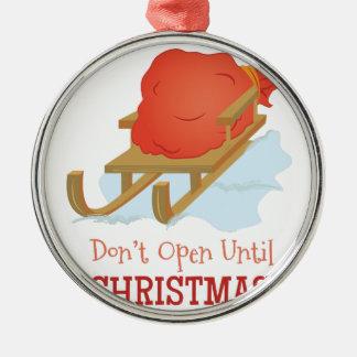 Öffnen Sie sich nicht Silbernes Ornament