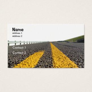 Öffnen Sie Straße Visitenkarte