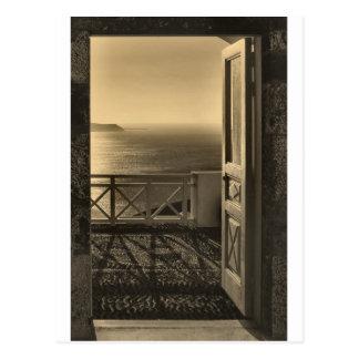 Öffnen Sie Tür-Retro Postkarte